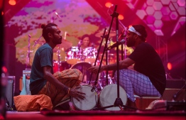 Local storytelling collective 'Baburu Seenu' enticed its audience with its trance inducing audio-visual journey. PHOTO: HUSSAIN WAHEED