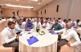 Local councillors at the Viavathi Raajje conference held in December 2019. FILE PHOTO/MIHAARU