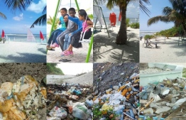 Before and after pictures from some of the parks developed by Nalafehi Meedhoo. PHOTO: FACEBOOK / NALAFEHI MEEDHOO