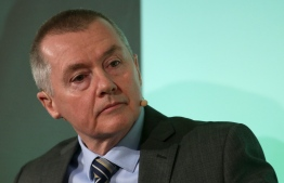 (FILES) In this file photo taken on February 01, 2019 International Airlines Group (IAG) CEO Willie Walsh listens during a press conference in London. - British airline giant IAG said on January 9, 2019 that chief executive Willie Walsh has decided to quit and will be replaced by Luis Gallego, who is currently head of Spanish division Iberia. (Photo by Daniel LEAL-OLIVAS / AFP)