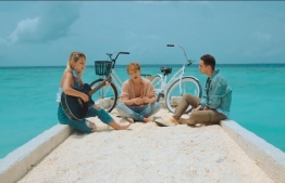 A screen grab from MANTRA's music video for 'No Te Esperaba', which was filmed at Jumeirah Vittavali in Maldives. IMAGE: MANTRA / YOUTUBE