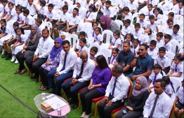 Izzudheen School opening ceremony. PHOTO: HUSSAIN WAHEED / MIHAARU