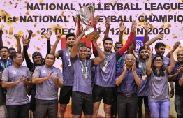 MNDF Club wins the National Volleyball Championship 2020. PHOTO/MIHAARU