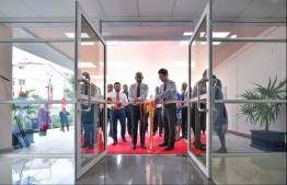 President Ibrahim Mohamed Solih inaugurating the Dr N.D. Abdulla Abdul Hakeem Ophthalmology Centre. PHOTO: HUSSAIN WAHEED/ MIHAARU