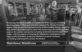 Rainbow Maldives provides reliable services to their customers through various outlets. PHOTO: AHMED MAANIS / BRANDS OF MALDIVES