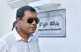 Former CEO of HDC Ahmed Bunyamin. PHOTO: HUSSAIN WAHEED/ MIHAARU