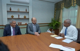 OPEC Director General conducting a meeting with President Ibrahim Mohamed Solih. PHOTO: PRESIDENT'S OFFICE