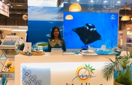 Maldives' stall at the Matka Expo 2020, currently ongoing in Helsinki, Finland. PHOTO: MMPRC