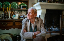 Christopher Tolkien at his home in the South of France one week before his 95th birthday last year. For nearly 50 years after his father died in 1973, he worked to keep alive the world he had created. PHOTO/Josh Dolgin