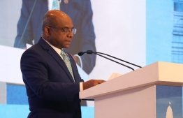 Minister of Foreign Affairs Abdulla Shahid delivered a keynote address on climate change at the Raisina Dialogue 2020 on January 15. PHOTO/FOREIGN MINISTRY