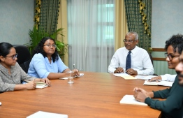 President Ibrahim Mohamed Solih meeting with members from the Anti Corruption Commission (ACC). PHOTO: PRESIDENT'S OFFICE