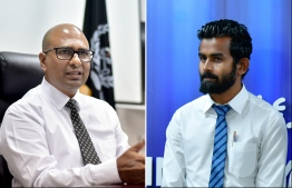 Abdulla Munaz (L) was dismissed prior to appointing Ahmed Mohamed Fulhu (R). PHOTO: MIHAARY