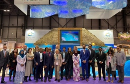 Maldives' stall at FITUR International Tourism Fair in Madrid, Spain. PHOTO: MMPRC