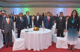 State dignitaries from Maldives and India attending the celebration held for 71st Republic Day of India celebrations. PHOTO: FOREIGN MINISTRY