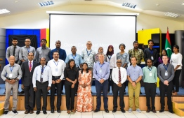 Participants at the Global Coral Reef Monitoring Network South Asia Sea Regional Workshop. PHOTO: MALDIVES MARINE RESEARCH INSTITUTE