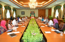 President Ibrahim Mohamed Solih meets the Cabinet and relevant authorities to discuss the preventive measures to be taken in Maldives, over the Novel Coronavirus outbreak in China. PHOTO/PRESIDENT'S OFFICE