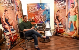 """In this photograph taken on January 20, 2020, Bollywood actor Saif Ali Khan reacts as he speaks during an interview with AFP in Mumbai. - Saif Ali Khan, bonafide Bollywood royalty and star of Netflix hit """"Sacred Games"""", says India's massive film industry does not need international audiences to thrive. But that may not be a good thing, he cautions. (Photo by Indranil MUKHERJEE / AFP) /"""