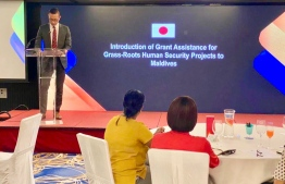 During the information-sharing session on Japan's 'Grant Assistance for Grass-Roots Human Security Projects (GGP), held jointly by the Embassy of Japan and Foreign Ministry. PHOTO/EMBASSY OF JAPAN