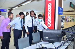 Tourism Minister Ali Waheed visits VIA to inspect the precautionary steps taken to prevent an outbreak of the Novel Coronavirus in Maldives. PHOTO/TOURISM MINISTRY
