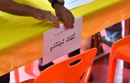 A picture from the recently held Maldivian Democratic Party Local Council primary elections. PHOTO: HUSSAIN WAHEED / MIHAARU