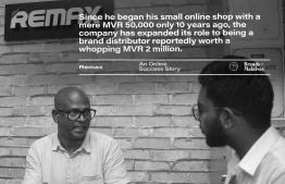 Remax: an online success story. IMAGE: AHMED MAANIS / BRANDS OF MALDIVES