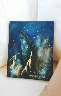 Artwork titled 'Reach for the Sky' from Samiyya's 'Youniverse' collection. PHOTO: SAM