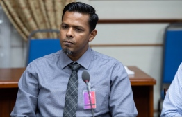Auditor General Hassan Ziyath speaking at Wednesday's Parliament Public Finance Committee.