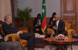 CWEIC Chairman meets President Ibrahim Mohamed Solih. PHOTO: PRESIDENT'S OFFICE
